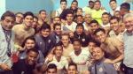 Universitario de Deportes: la celebración en el camerino tras triunfo en Huacho - Noticias de aranda torres