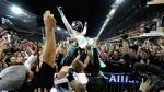 Nico Rosberg: su alocada celebración al ganar el título de Fórmula 1 - Noticias de damon hill