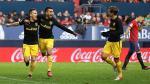 Atlético de Madrid goleó 3-0 al Osasuna en Pamplona por Liga Santander - Noticias de peru campeón
